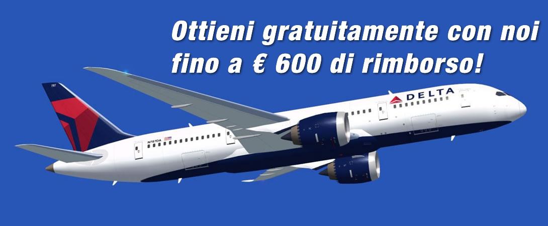 Rimborso Volo Cancellato Delta Airlines