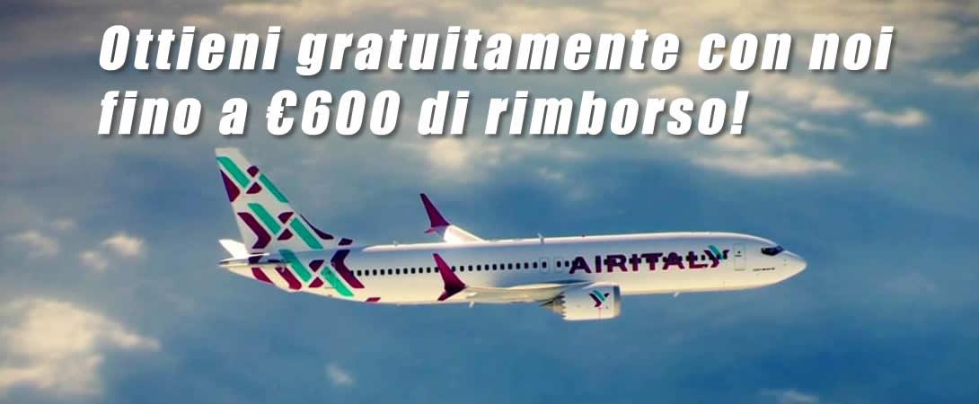 Rimborso volo cancellato Air Italy