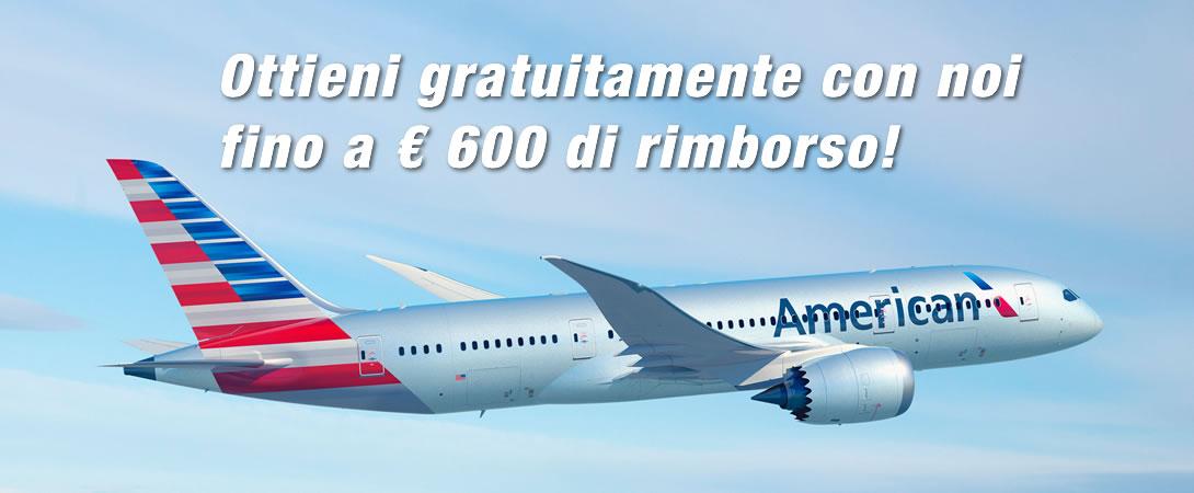 Rimborso Volo Cancellato American Airlines