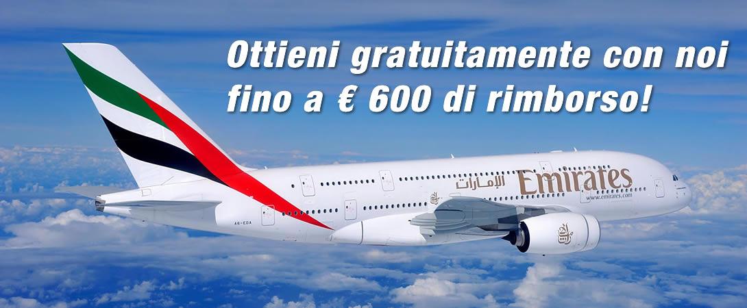Rimborso Volo Cancellato Emirates